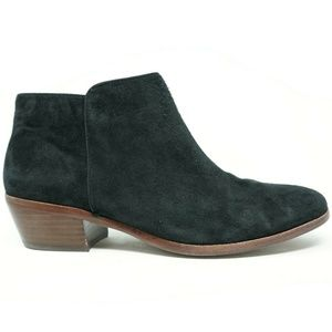 Sam Edelman Booties Petty Black Suede Size 8.5